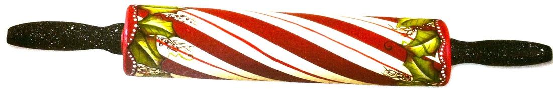 Nov 2013 Julie Polderdyke Stripes Rolling Pin