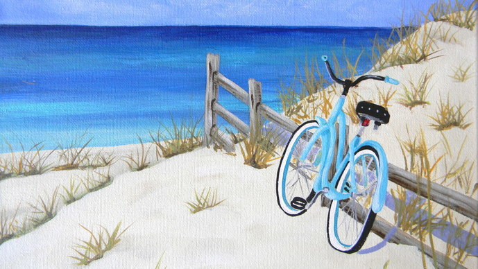 Feb Bicycle On The Beach