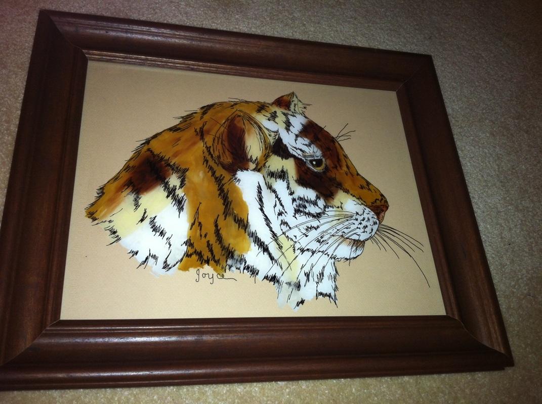 Jan: Reverse Glass Tiger